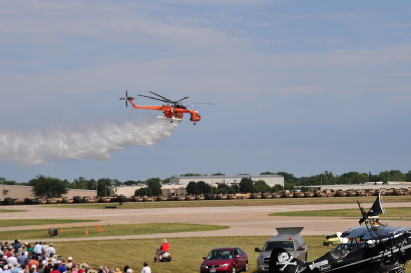 The Air Crane demonstrating its fire fighting capability