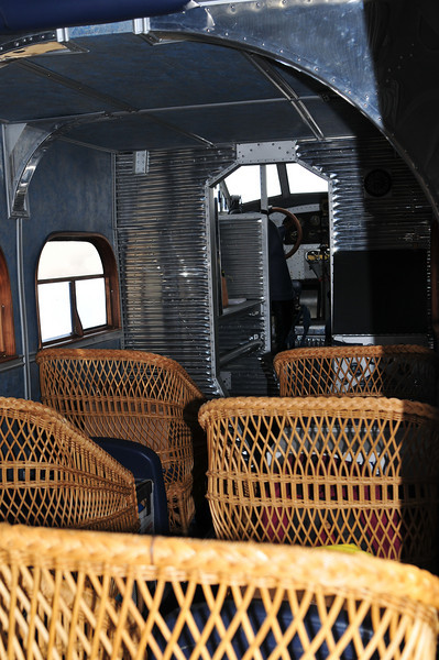 Looking forward inside the Ford Tri Motor