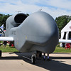Global Hawk mock up made of plywood.