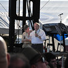 Mr. Edsel Ford and EAA Chairman, Mr. Tom Poberezny on stage before the Chicago concert.