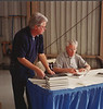 Gen. Tibbets signing his book Flight of the Enola Gay. I still have signed copies of this great book available.