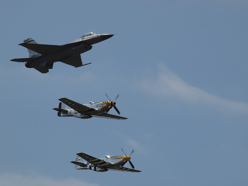 F-16 AND P-51