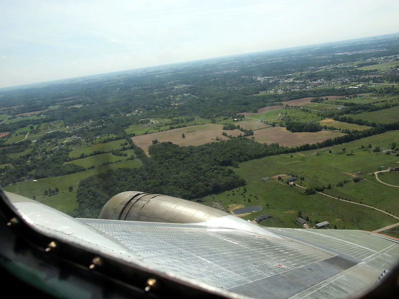 "B-17G ""YANKEE LADY"" NAVIGATOR'S VIEW"