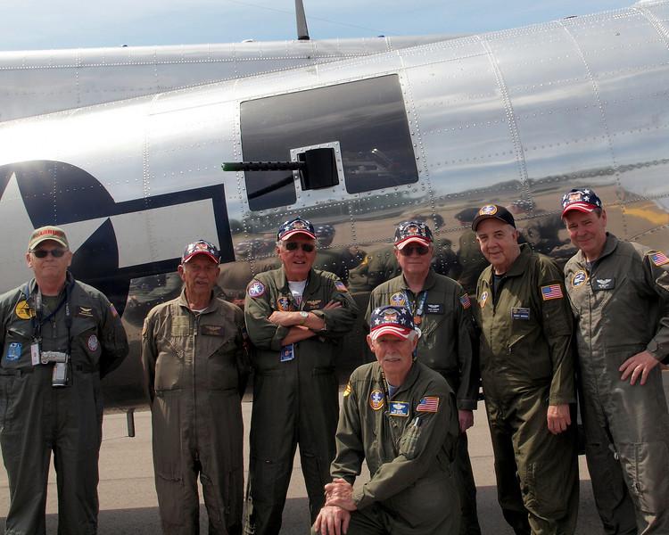 "B-17G ""YANKEE LADY"" FLIGHT CREW (Flight to Adrian, MI, Flag Day, Jun 2011)"