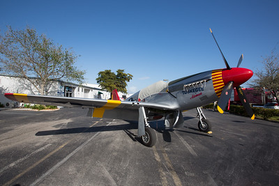 CAF Red Tail Squadron restored P-51C Mustang at the Paul Kramer Learn to Fly Center
