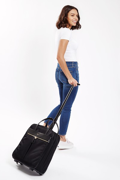 Mayfair;Burlington;Wheeled Business Bag;15'';119-801-BLK;On the model