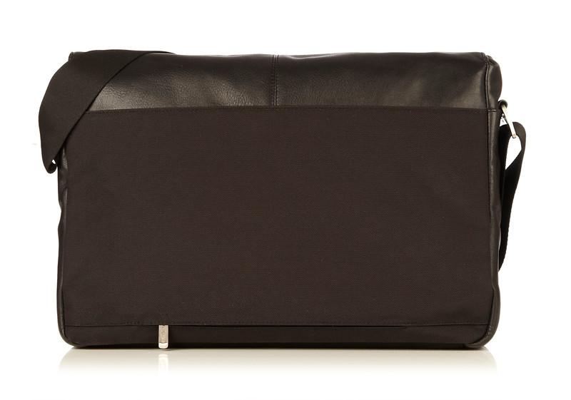 Kobe Soft Leather Messenger 154-304-BLK