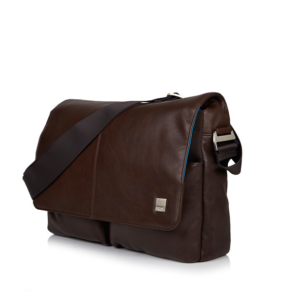 Kobe Soft Leather Messenger 154-304-BRN