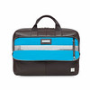 Newbury Leather Zip Briefcase 155-256-BRN