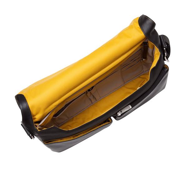Kobe Soft Leather Messenger Bag 154-304-BLK