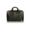 Amesbury Double Zip Leather Briefcase 155-259-BLK