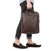 """Dale 15"""" Tote Backpack 154-402-BRN"""