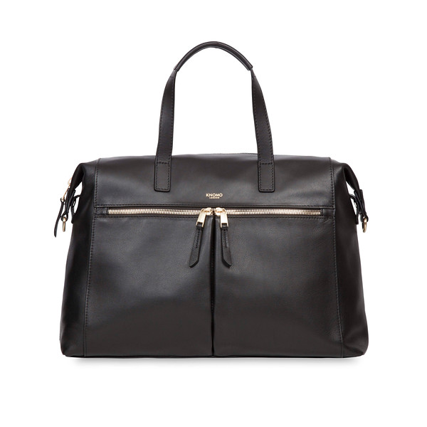 Audley Slim Leather Tote 120-101-BLK