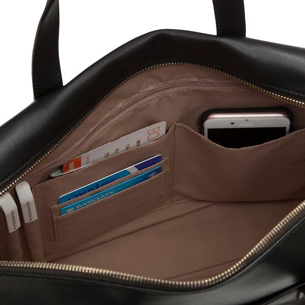 Audley Slim Leather Handbag 120-101-BLK