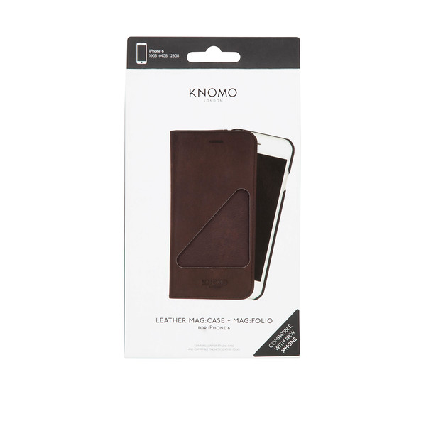 91-103-BRN IPHONE 6 MAG FOLIO