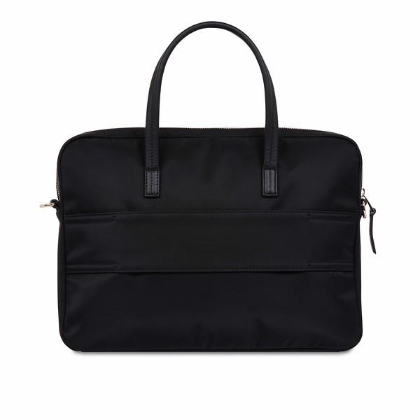 """Hanover 14"""" Black Briefcase 119-101-BLK2"""