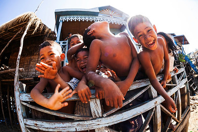 Floating Village Children
