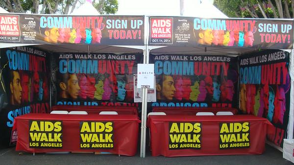 Gay Pride Set-Up (AWLA booth and Pride set-up)