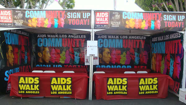Gay Pride Set-Up (AWLA booth and Pride set-up)