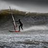 Mast high wave - Storm Doris.