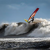 Big wave windsurfing.