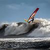 Big wave windsurfing.