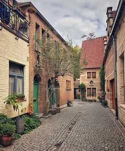 Inside the Large Beguinage of Mechelen