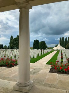 View of the Tyne Cot Cemetery