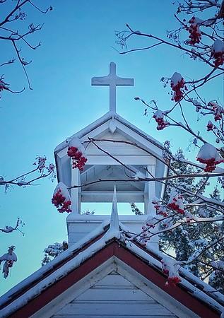 Prairie Church in the Winter