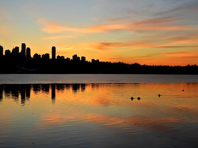 Sunset over Burnaby, British Columbia