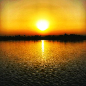 Sunset over the Nile River