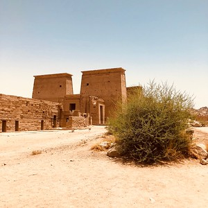 Outside the Temple of Philae