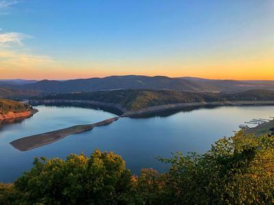 Edersee Lake Sunset