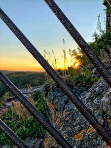 Sunset Behind Bars