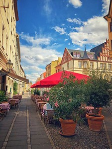 Outdoor Cafe in Wittenberg