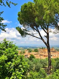 Italian hill town in Tuscany