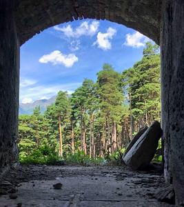 View of the Italian Alps from Forte di Fenestrelle