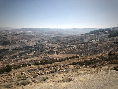 The view of the Holy Land surrounding Mount Nebo