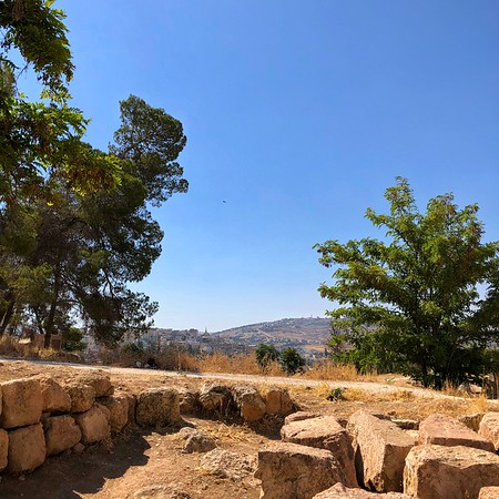 View of the modern City Jerash