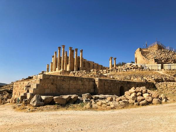 The Corinthian columns of the Temple of Artemis