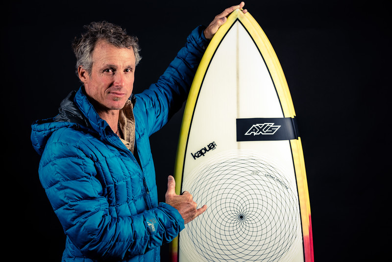 Olympic Medalist Michael Gebhart with the AXIS 2016 Kapua strapless Innegra tech