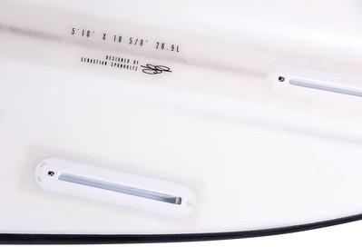 "AXIS 2017 Climax 5'10"" Kite Surfboard, Fin Detail / Signature"
