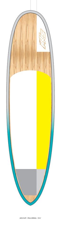 "AXIS 2017 - Paulownia 10'6"" SUP top"
