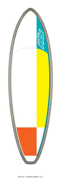 """AXIS 2017 - Innegra Carbon 8'4"""" SUP top"""