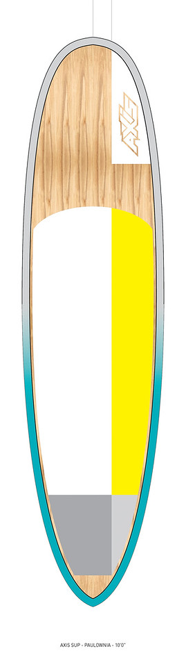 "AXIS 2017 - Paulownia 10'0"" SUP top"