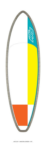 """AXIS 2017 - Innegra Carbon 8'8"""" SUP top"""