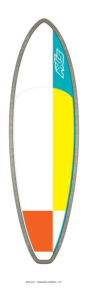 """AXIS 2017 - Innegra Carbon 9'0"""" SUP top"""