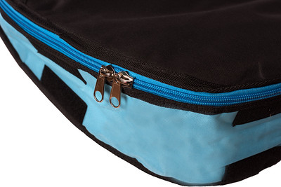 AXIS Surfbag stainless zipper and bottom extension detail