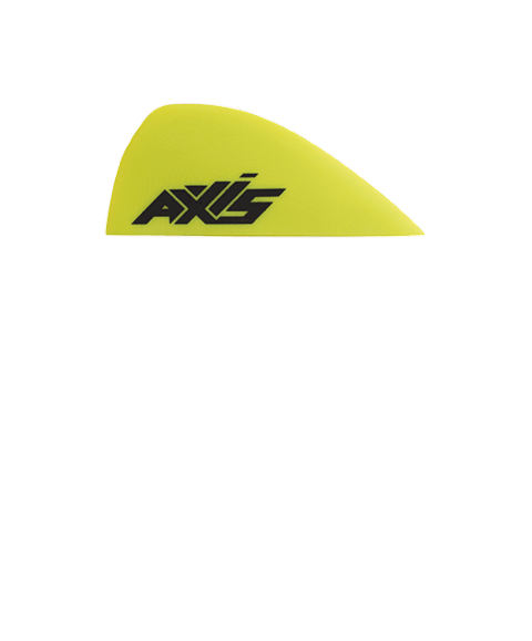 AXIS 50nm Premium Green G10 twin tip fins - specifically for AXIS Twin Wave 148x43cm