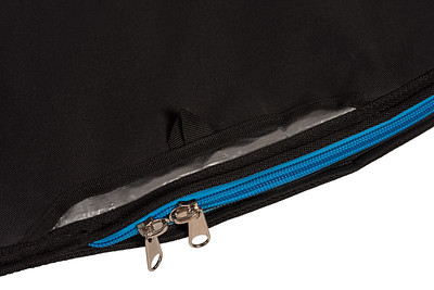 AXIS Surfbag stainless zipper and wax pocket detail